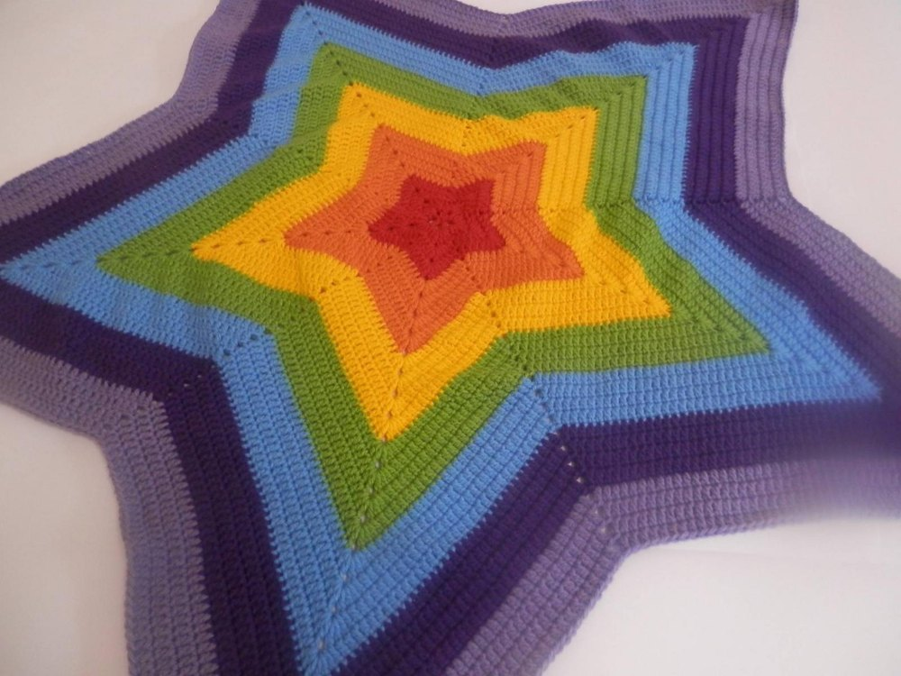 5 Point Star Blanket Crochet Pattern By Addicted 2 The Hook