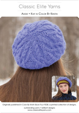 Addie Hat in Classic Elite Yarns Color by Kristin - Downloadable PDF