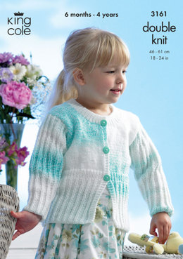 Cardigan and Jacket in King Cole Melody DK - 3161