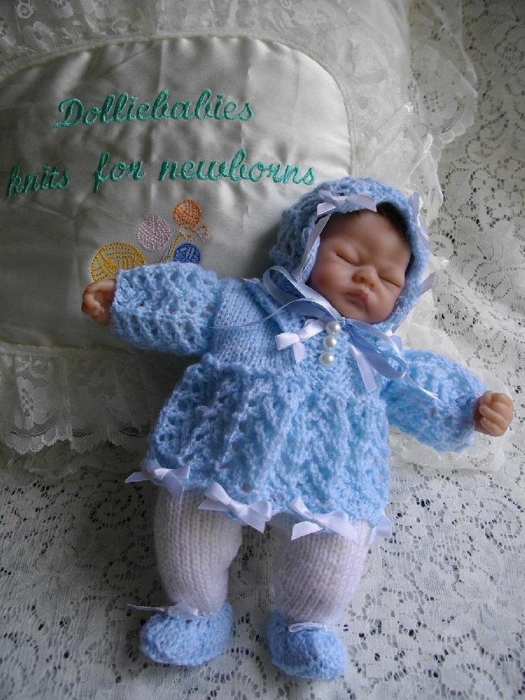 Preemie Knitting Patterns Free : 27. Dress Set for 10