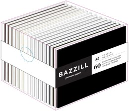 "Bazzill Value Pack Cards W/Envelopes 4.25""X5.5"" 60/Pkg - Neutrals"