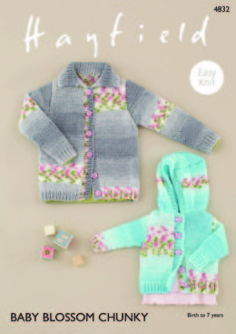 Cardigans in Hayfield Baby Blossom Chunky - 4832 - Downloadable PDF