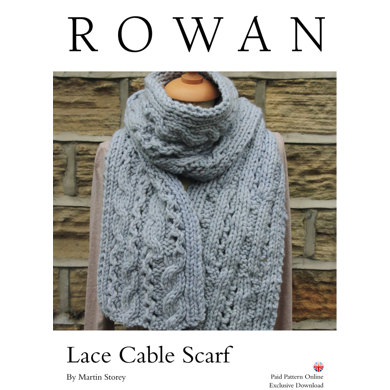 Lace Cable Scarf in Rowan Big Wool