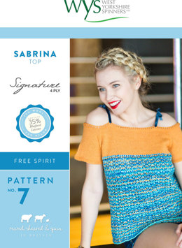 Sabrina Top in West Yorkshire Spinners Signature 4 Ply - Downloadable PDF