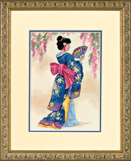 Dimensions Elegant Geisha Cross Stitch Kit - 13cm x 18cm