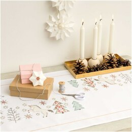 Rico Unicorn Embroidery Table Runner Kit