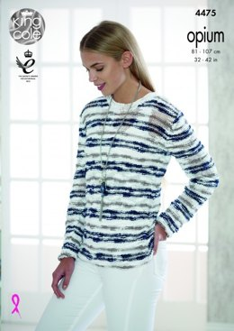 Sweater and Cardigan in King Cole Opium Pallette - 4475 - Leaflet
