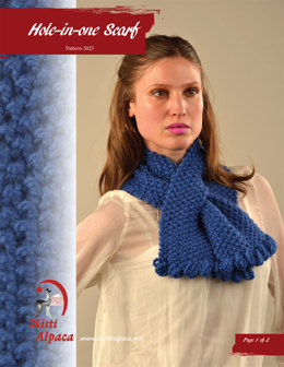 Hole-in-one Scarf in Misti Alpaca Chunky & Hand Paint Chunky - 3025 - Downloadable PDF