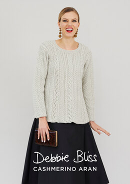Clemence Jumper - Knitting Pattern For Women in Debbie Bliss Cashmerino Aran