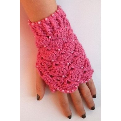 Beaded Crochet Mittens