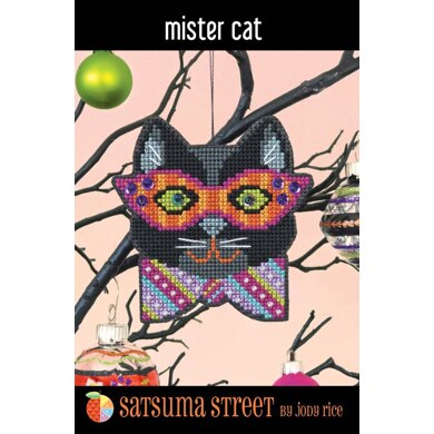 Satsuma Street Mister Cat Cross Stitch Kit