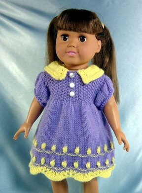 My Old Fashioned Baby Doll, Knitting Patterns fit American Girl and other 18-Inch Dolls