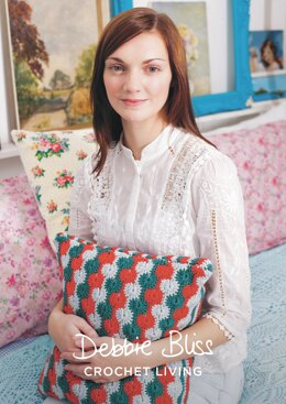 """""""Catherine Stitch Cover"""" - Cushion Crochet Pattern For Home in Debbie Bliss Rialto DK - DBS054"""