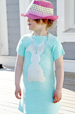 Cara de Cottontail knitted dress pattern