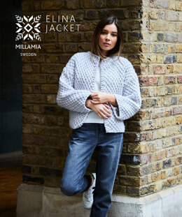 """Elina Jacket"" - Jacket Knitting Pattern For Women in MillaMia Naturally Soft Super Chunky"
