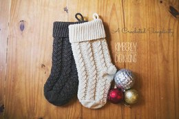 Braided Cables Christmas Stocking