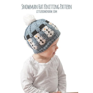 Snowman Hat Knitting Pattern By Cassandra May