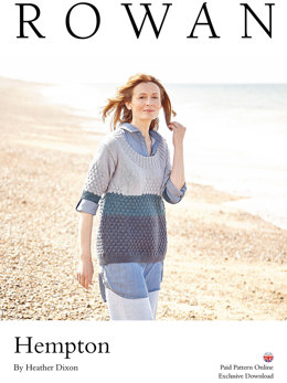 Hempton Top in Rowan Creative Linen