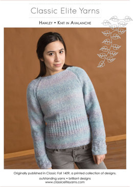 Hawley Pullover in Classic Elite Yarns Avalanche - Downloadable PDF