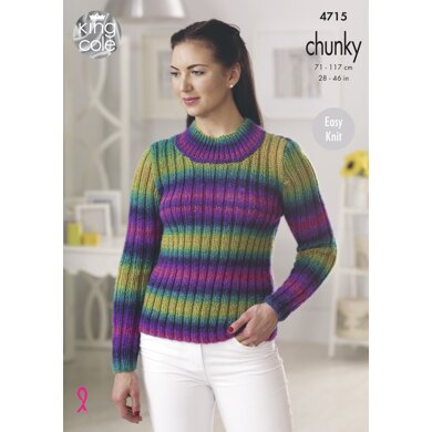 Sweater & Cardigan in King Cole Riot Chunky - 4715 - Downloadable PDF