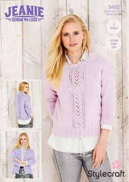Sweater and Jacket in Stylecraft Jeanie - 9492 - Downloadable PDF