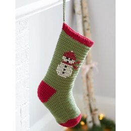 Cross Stitch Christmas Stockings in Bernat Super Value