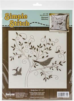 Janlynn Corporation Bird Silhouette Embroidery Kit