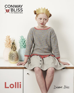 Frill Edged Top in C+B Lolli and Debbie Bliss Baby Cashmerino - Downloadable PDF