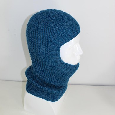 4 Ply Textured Unisex Balaclava Circular Knitting Pattern By
