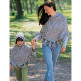 Just Me and Mom Ponchos in Patons Shetland Chunky