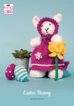 Easter Bunny in King Cole Truffle & Big Value DK 50g - Downloadable PDF