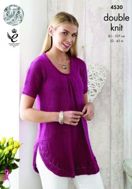Top and Sweater in King Cole Giza Cotton DK - 4530 - Leaflet