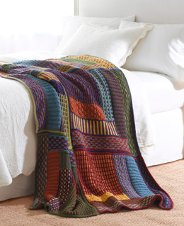 Slip Stitch Sampler Throw in Lion Brand Vanna's Choice - L10347