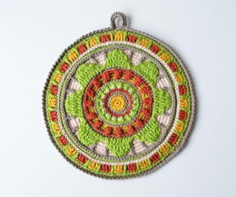 Wheel of Magic Mandala Potholder