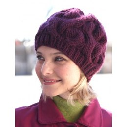 Cable Hat in Bernat Roving