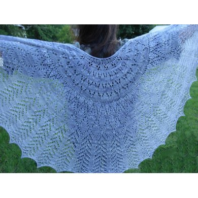Whispering Wings Lace Shawl