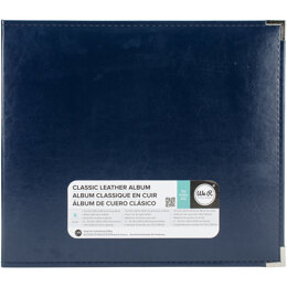 """We R Memory Keepers We R Classic Leather D-Ring Album 12""""X12"""" - Navy"""