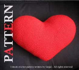 Heart Cushion - PDF crochet pattern