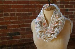 Drop Stitch Cowl in Knit Collage Gypsy Garden