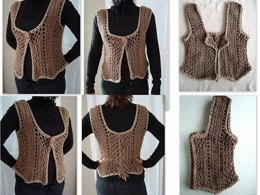 686 TAUPE SHRUG VEST, Women X Small to XXLarge