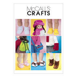 McCall's 18 Doll Accessories M3469 - Paper Pattern Size One Size Only