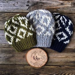 Diamond Fair Isle Beanie