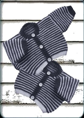 Baby Navy Stripe Cardigan