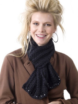 Elegant Scarf in Caron Simply Soft Party - Downloadable PDF