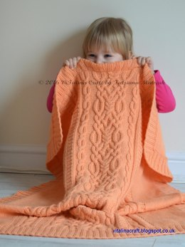 Cable Fantasy Baby Blanket