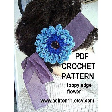 Loopy Flower | Crochet Pattern by Ashton11