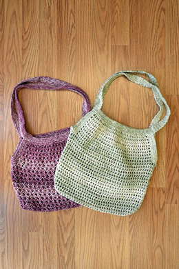 Knit and Crochet Market Bags in Fibra Natura Good Earth Adorn - 1188 - Downloadable PDF