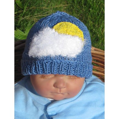 Baby Little White Fluffy Cloud Beanie Hat