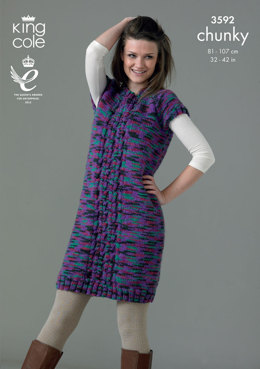 Tunic and Waistcoat in King Cole Magnum Chunky - 3592