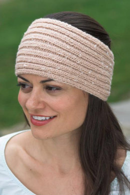 Ribbed Headband in Plymouth Encore Tweed - F426